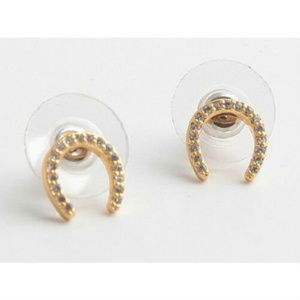 KATE SPADE Wild Ones Pave Horseshoe Stud Earrings